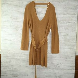 Leith Sweater Sz XL Brown Long Sleeve Knit Brown